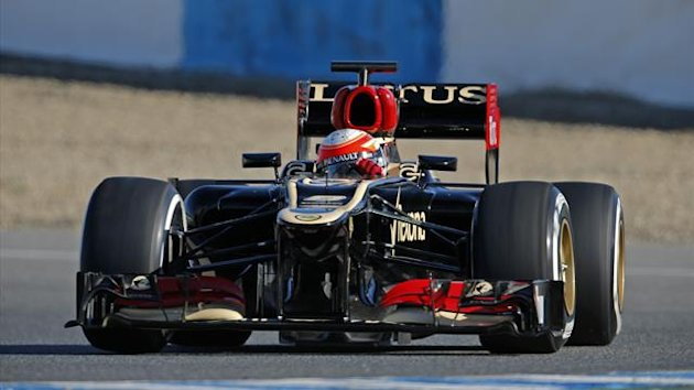 2013 Romain Grosjean Lotus Renault