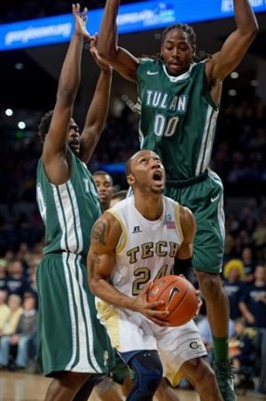 Holsey has 18, Georgia Tech beats Tulane 79-61