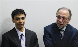 Dharun Ravi with lead defense attorney Steven Altman. (Lucas Jackson/Reuters)