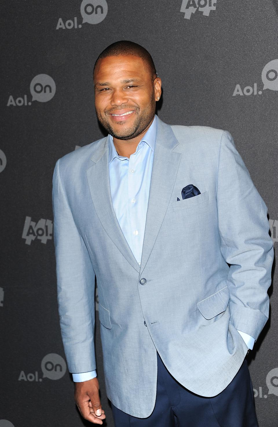 "Actor Anthony Anderson attends AOL's web series ""NewFront"" at Moynihan Station on Tuesday April 30, 2013 in New York. (Photo by Evan Agostini/Invision/AP)"