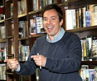 Jimmy Fallon promotes the new &#39;Thank You Notes 2&#39; at Barnes & Noble Union Square in New York City on May 24, 2012 -- Getty Images