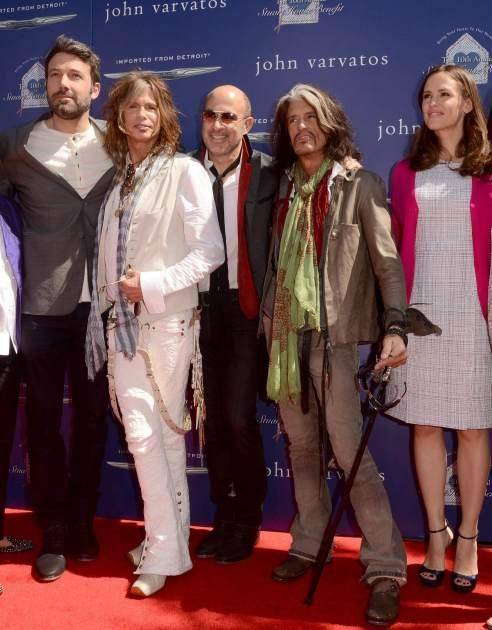 Ben Affleck, Steven Tyler, Joe Perry, Jnnifer Garner - John Varvatos Charity Event 2013 -- Access Hollywood