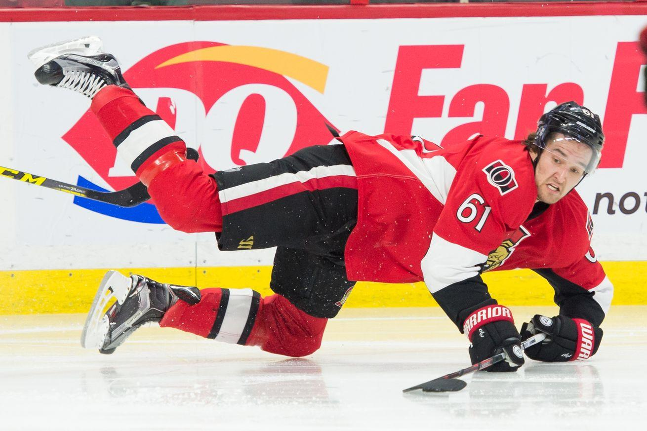Senators defenseman somehow uninjured after taking a skate blade to the face