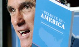 Mitt Romney holds a copy of his plan to increase jobs and boost the economy during a talk in 2011: The former Republican presidential candidate may have been onto something with his tax plan.