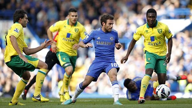 Juan Mata, Chelsea v Norwich, October 2012