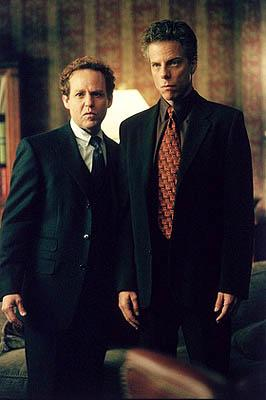 "Cage (Peter MacNicol, L) and Fish (Greg Germann, R) are finally fed up with each other and are forced to see a therapist on the ""Boy's Town"" episode of Ally McBeal Ally McBeal"
