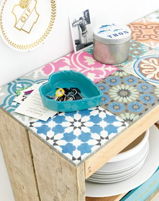 Tabletop tile DIY