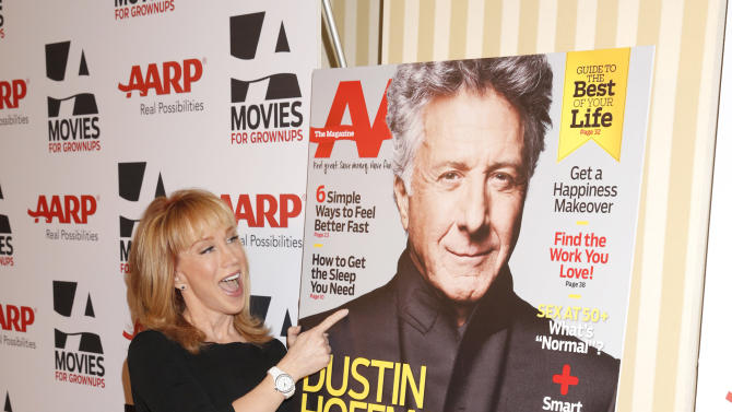 IMAGE DISTRIBUTED FOR AARP THE MAGAZINE - Kathy Griffin attends AARP The Magazine's 12th Annual Movies for Grownups Awards at The Peninsula Hotel on Tuesday, Feb. 12, 2013 in Beverly Hills, Calif. (Photo by Todd Williamson/Invision for AARP Magazine/AP Images)