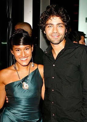 Q'Orianka Kilcher and Adrian Grenier at the Los Angeles premiere of Warner Independent Pictures' The 11th Hour