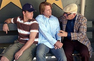 Matt Damon and Greg Kinnear with Seymour Cassel in 20th Century Fox's Stuck on You