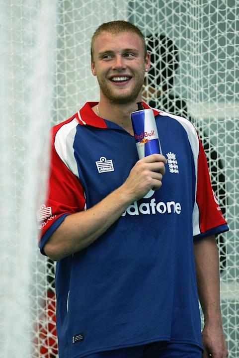 CHESTER-LE-STREET, ENGLAND - JUNE 1:  Andrew Flintoff of England looks on during the England nets session prior to the 2nd Npower Test match between England and Bangladesh at the Riverside Ground on J