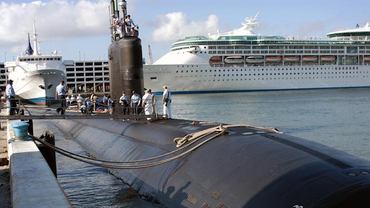 Navy says goodbye to sub damaged by worker's arson