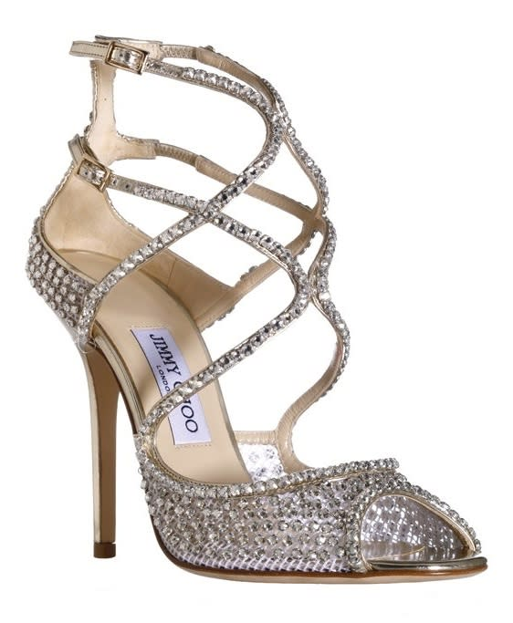 #2 Sexiest Shoe: Jimmy Choo Swarovski crystal-encrusted sandal with double ankle straps, $2,095