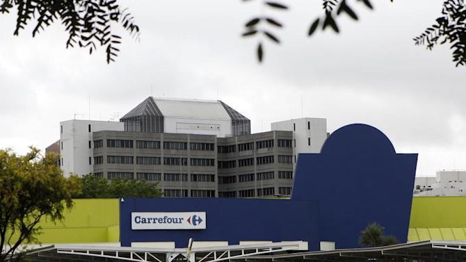 A general view is seen of a Carrefour store in Sao Paulo