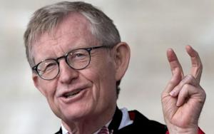Ohio State Haters Whack Gordon Gee with Door on His Way Out