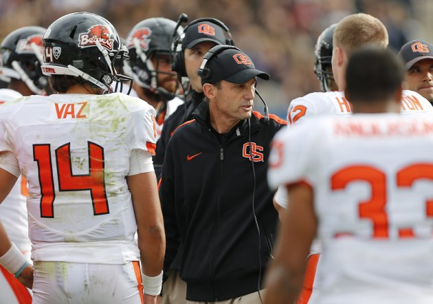 Mike Riley's wild coaching ride has Orgeon State cruising up the BCS standings