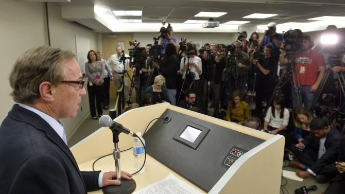 Dr. Zane Cohen gives an update of Toronto Mayor Rob Ford's condition during a news conference at Mount Sinai Hospital in Toronto, Wednesday, Sept. 17, 2014. Ford has been diagnosed with a malignant liposarcoma, a rare type of cancer. (AP Photo/The Canadian Press, /Nathan Denette)