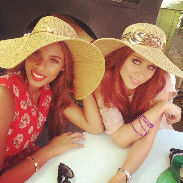 Rochelle Humes and Una Healy