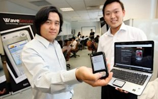 Darius Chueng (left) was named one of Asia's Top 25 Young Entrepreneurs by Business Week Asia in 2009 for his role in tenCube. (National Youth Council photo)