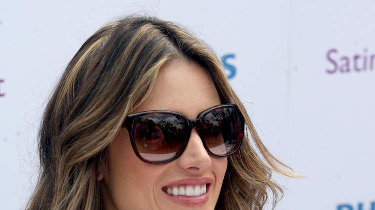 Consumers were able to catch up with supermodel and Philips brand ambassador, Alessandra Ambrosio, at the Philips Satin Perfect fashion and beauty event in Los Angeles on Friday, March 23, 2012. (Casey Rodgers/AP Images for Philips)