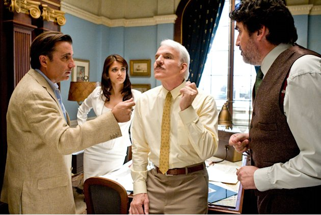 Andy Garcia Aishwarya Rai Steve Martin Alfred Molina The Pink Panther 2 Production Stills Sony 2009