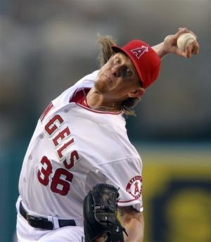 Weaver pitches Angels to 4-3 win over Dodgers