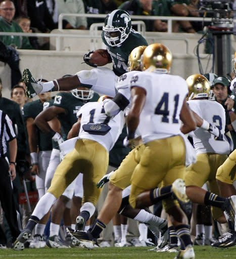 No. 20 Notre Dame beats No. 10 Michigan State 20-3