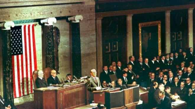 Lyndon Johnson was the first president to make the State of the Union a primetime event.