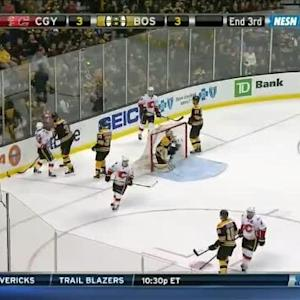 Flames at Bruins / Game Highlights