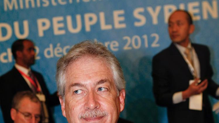 "U.S. Deputy Secretary of State William J. Burns poses for photographers before the start of a meeting of the Friends of the Syrian People in Marrakech, Morocco, Wednesday Dec. 12, 2012. The Syrian opposition called for ""real support"" and not just recognition on Wednesday, hours after the U.S. declared its new coalition was the ""legitimate representative"" of its country's people. (AP Photo/Abdeljalil Bounhar)"