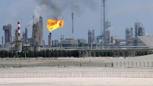 A general view of an oil refinery in the Gulf emirate …
