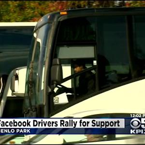 Shuttle Drivers Say Facebook Is Interfering With Plans To Unionize