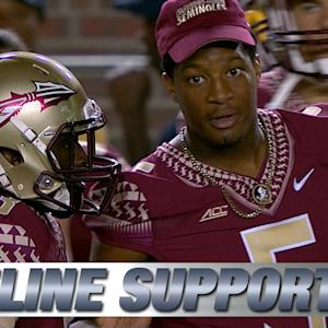 Jameis Winston Supports Teammates from Sideline vs. Clemson