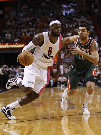 Jennings' 23 help Bucks beat Heat 91-82