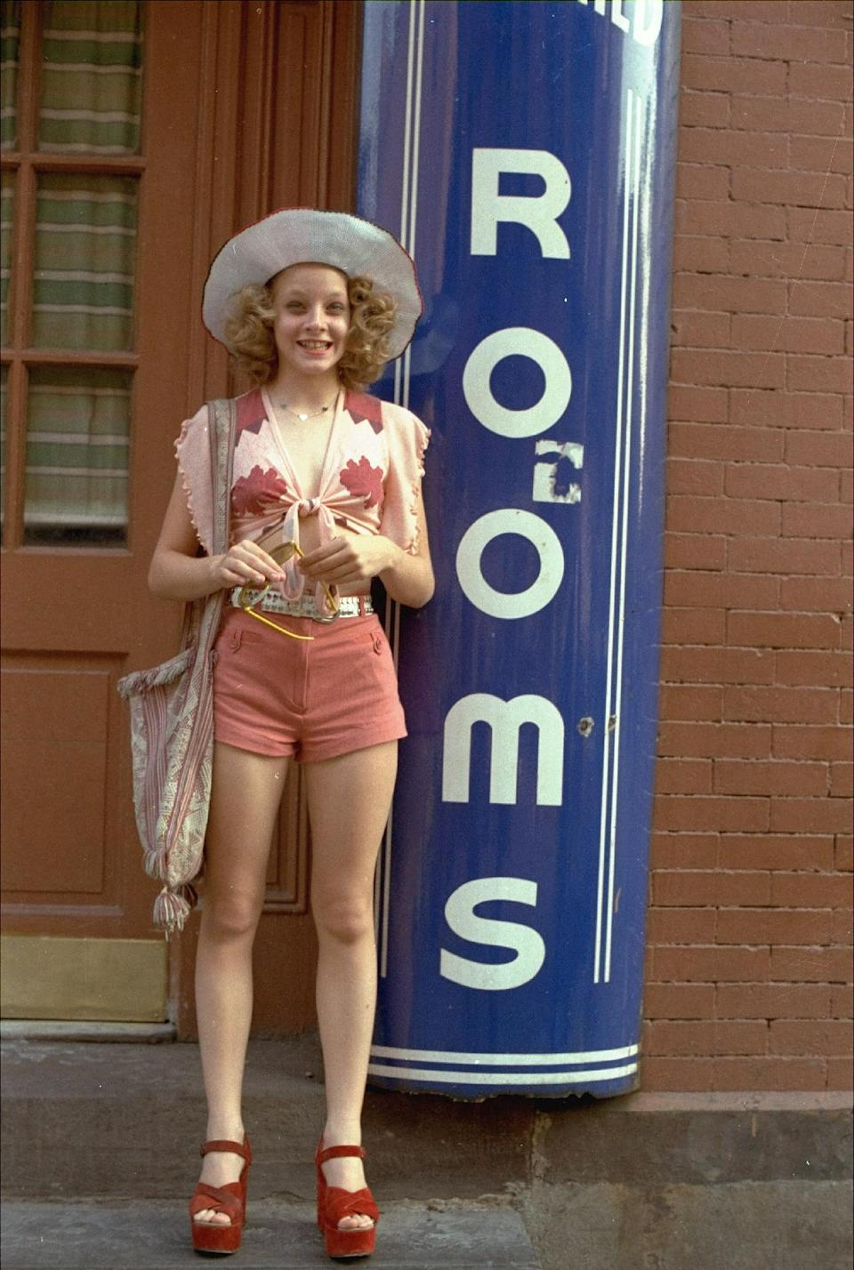 "FILE - In this publicity file photo provided by Columbia Pictures, Jodie Foster portrays a 12-year-old prostitute in the 1976 movie ""Taxi Driver,"" which was directed by Martin Scorsese.  (AP Photo/Columbia Pictures, File)"