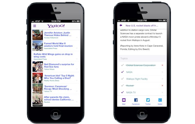 Personalization on The New Yahoo! App for iPhone