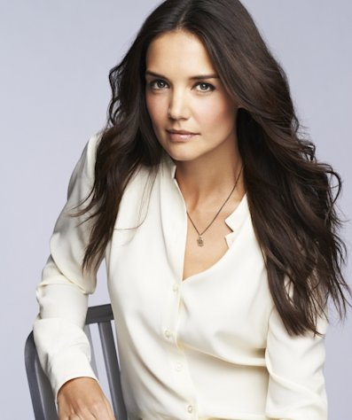 Katie Holmes is a promo shot for Bobbi Brown Cosmetics -- Bobbi Brown
