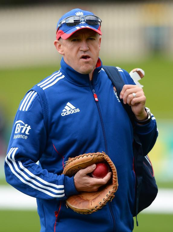 England's coach Andy Flower, pictured at the Bellerive Oval in Hobart, on November 8, 2013