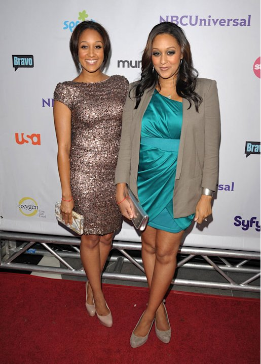 Tia Mowry of &quot;The Game&quot; and Tamera Mowry attend the NBC Universal Summer TCA 2011 All-Star Party at the SLS Hotel on August 1, 2011 in Los Angeles, California. 