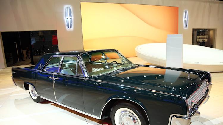 1961 Lincoln Continental Sedan is seen as part of Lincoln's Heritage on Display at the Los Angeles Auto Show press day, Wednesday, Nov. 28, 2012 in Los Angeles. (Photo by Matt Sayles/Invision for Lincoln/AP Images)