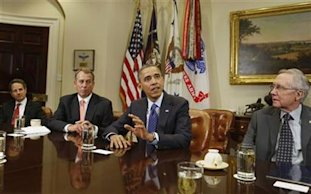 President Obama, John Boehner: Credit Reuters