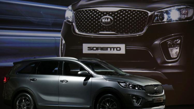 Kia Motors' new Sorento SUV is pictured during its launch event in Seoul