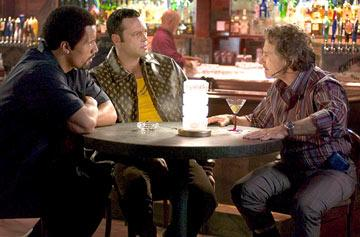 "Dwayne ""The Rock"" Johnson , Vince Vaughn and Harvey Keitel in MGM's Be Cool"