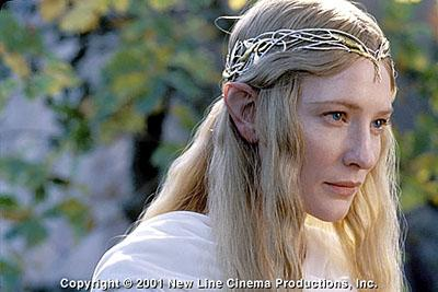 Cate Blanchett as Galadriel in New Line's The Lord of The Rings: The Fellowship of The Ring