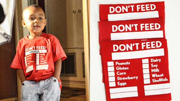 'Don't Feed Me' T-Shirts Calm Parents of Allergic Kids (ABC News)