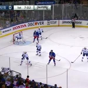 Ryan Callahan Hit on Marc Staal (12:47/1st)