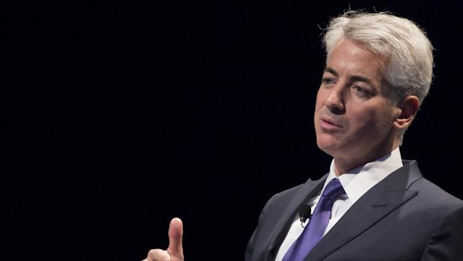 William Ackman, founder and CEO of hedge fund Pershing Square Capital Management, speaks during the Sohn Investment Conference in New York