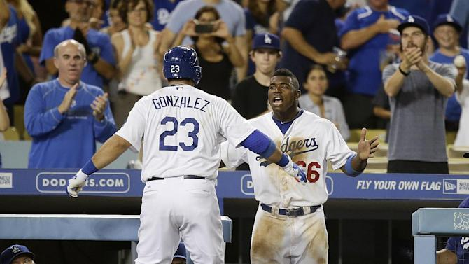 Puig, Gonzalez lead Dodgers to 9-2 win over Padres