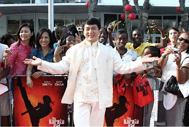 The Karate Kid Miami premiere 2010 Jackie Chan