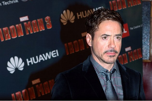 US actor Robert Downey Jr. poses during the